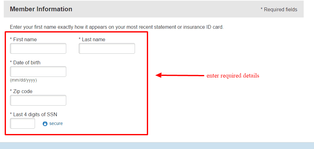 Nationwide password reset