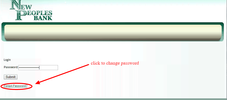 New Peoples Bank Reset Password Link
