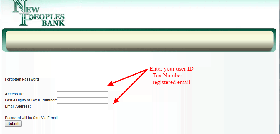 Reset Password for New Peoples Bank