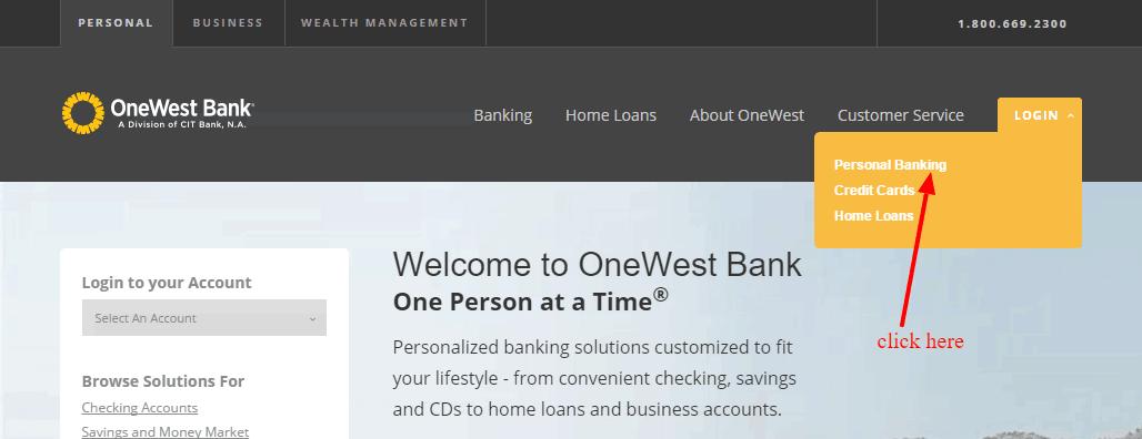 OneWest Bank Login