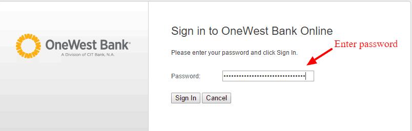 OneWest Bank Online Login2