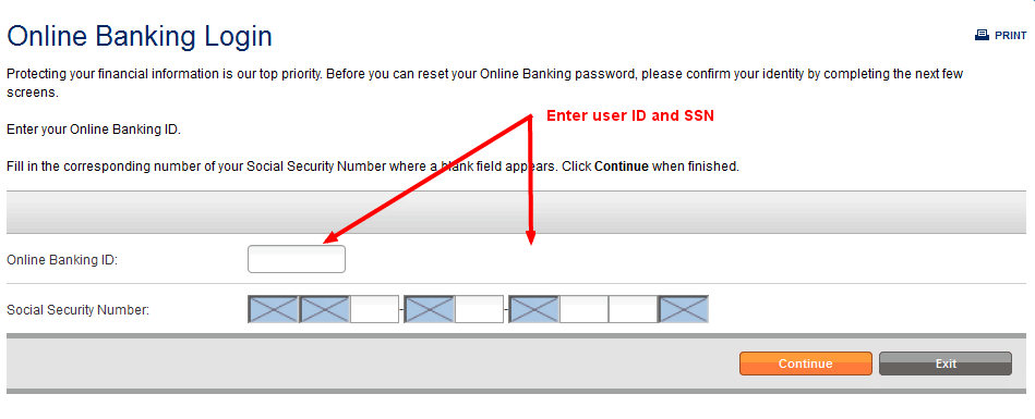 Online Banking Login Authentication