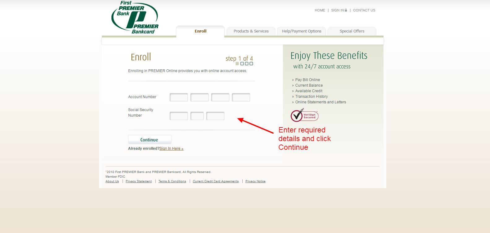 1st premier bank login
