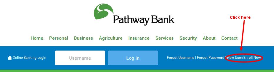 Pathway Bank Online Banking Enrollment