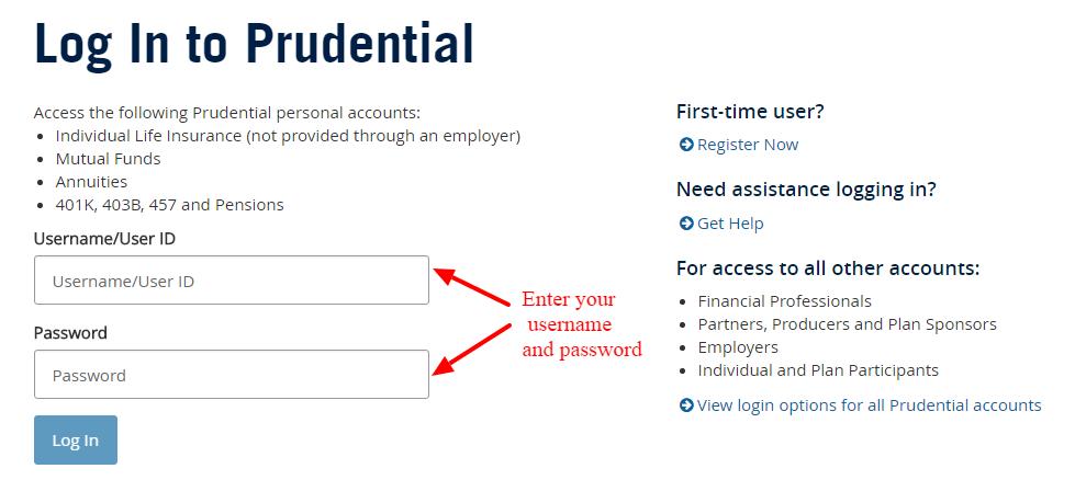 Prudential Financial login