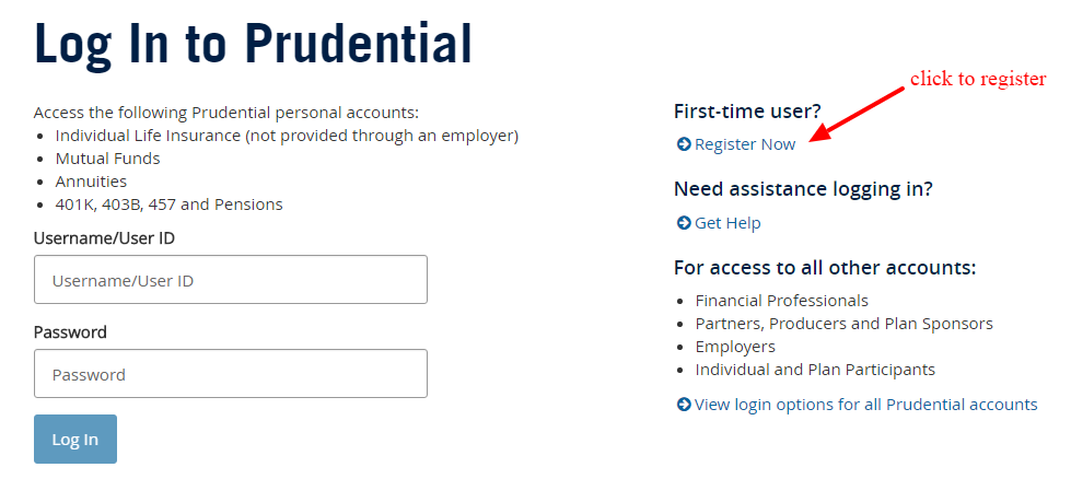 Prudential Financial newuser