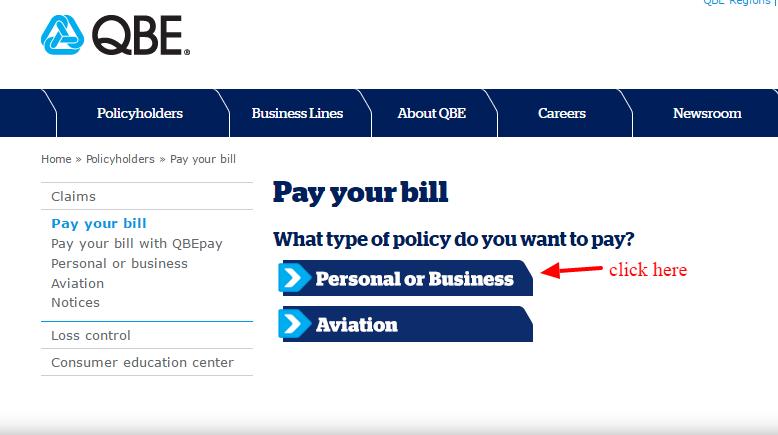 QBE pay bill