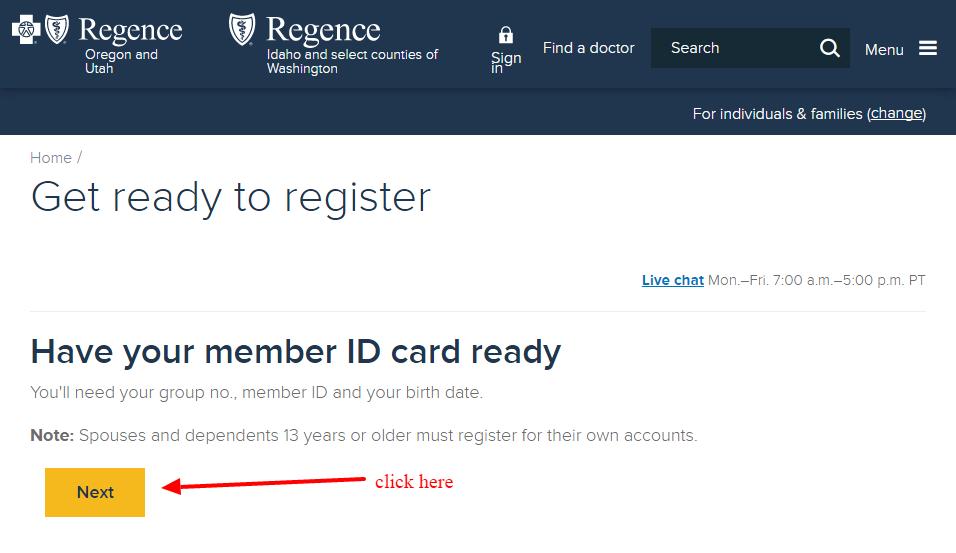 Regence registration1