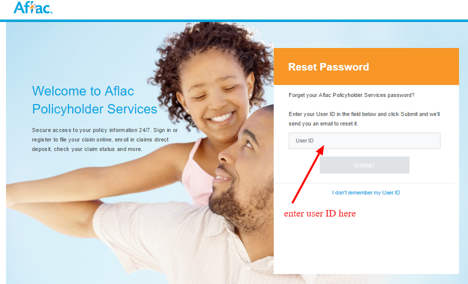 Reset Password Aflac