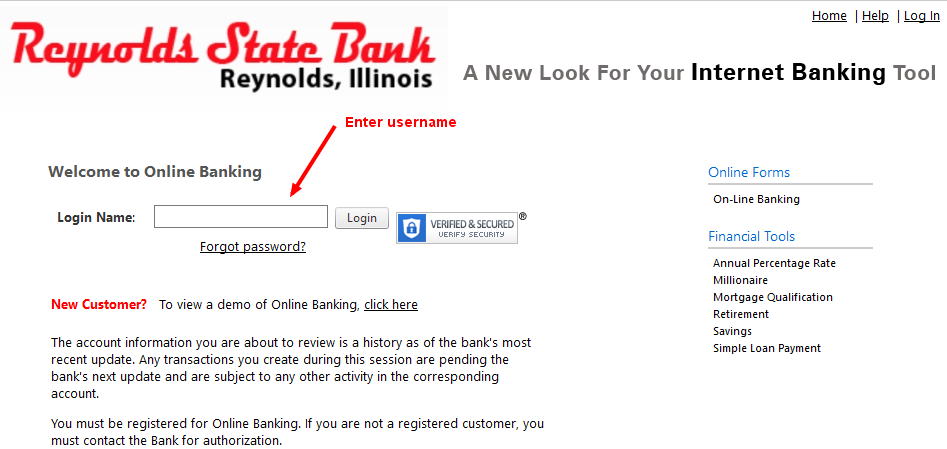 Reynolds State Bank Username