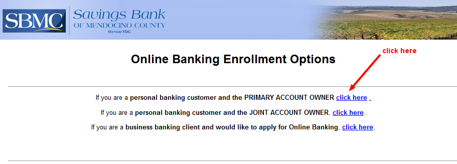 SBM Online Banking Enrollment Options