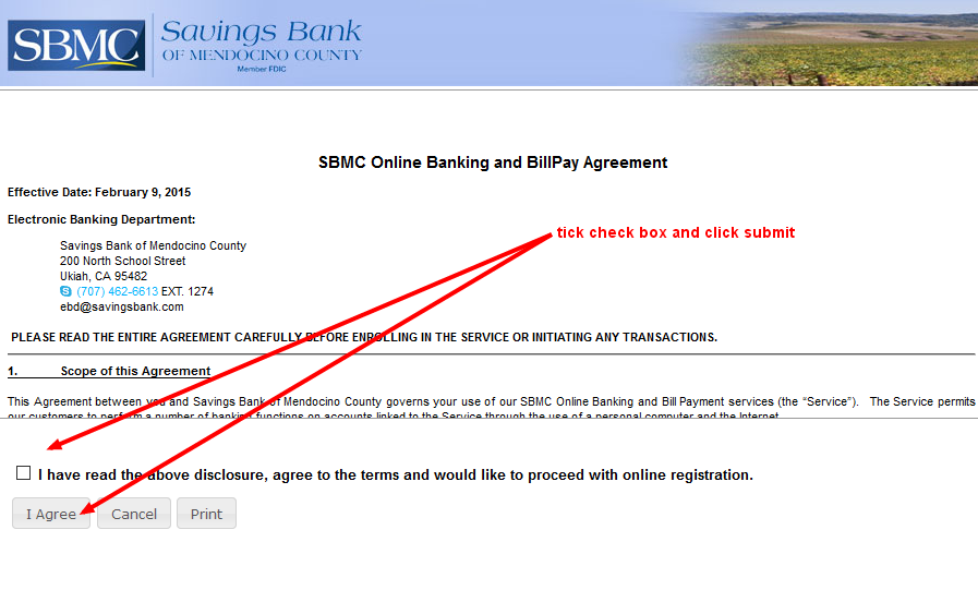 SBMC Online Banking and BillPay Agreement