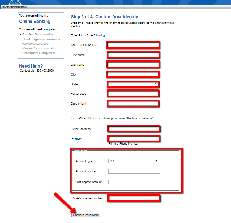 Smartbank online banking login cc bank for Mercedes benz bank login
