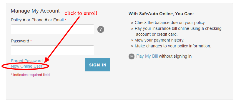 Safe Auto Bill Pay >> Safeauto Insurance Online Login Cc Bank