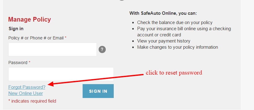 Safeauto password-reset