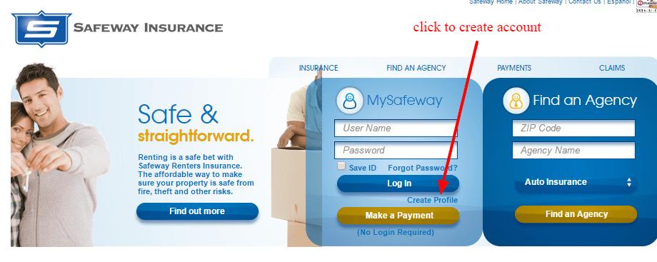 Safeway create account