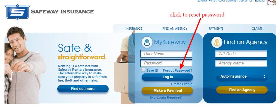 Safeway reset password