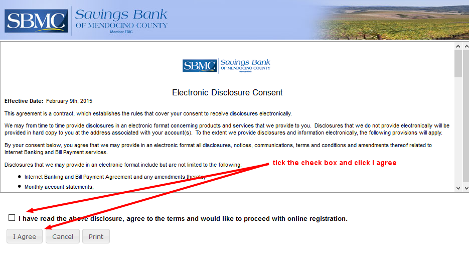 Savings Bank Electronic Disclosure Enrollment