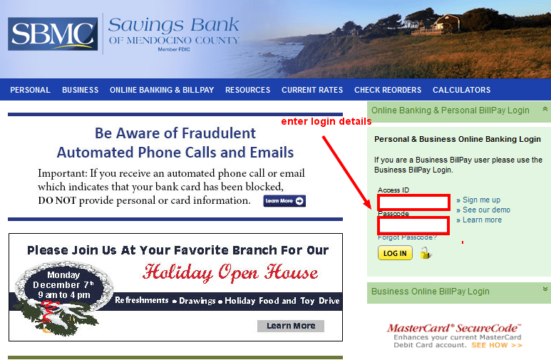 Savings Bank of Mendocino Login