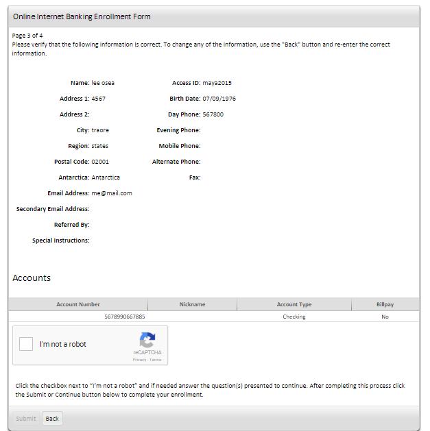 Security Savings Bank Enrollment Verification