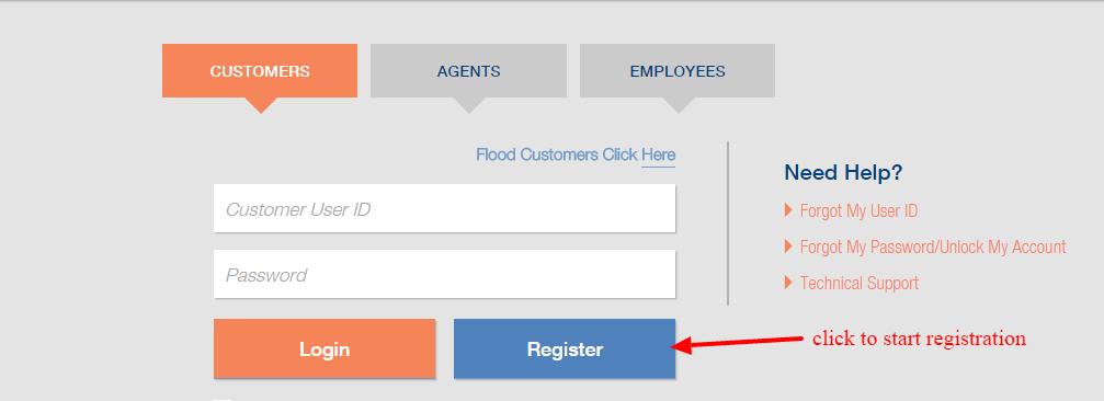Selective eService registration