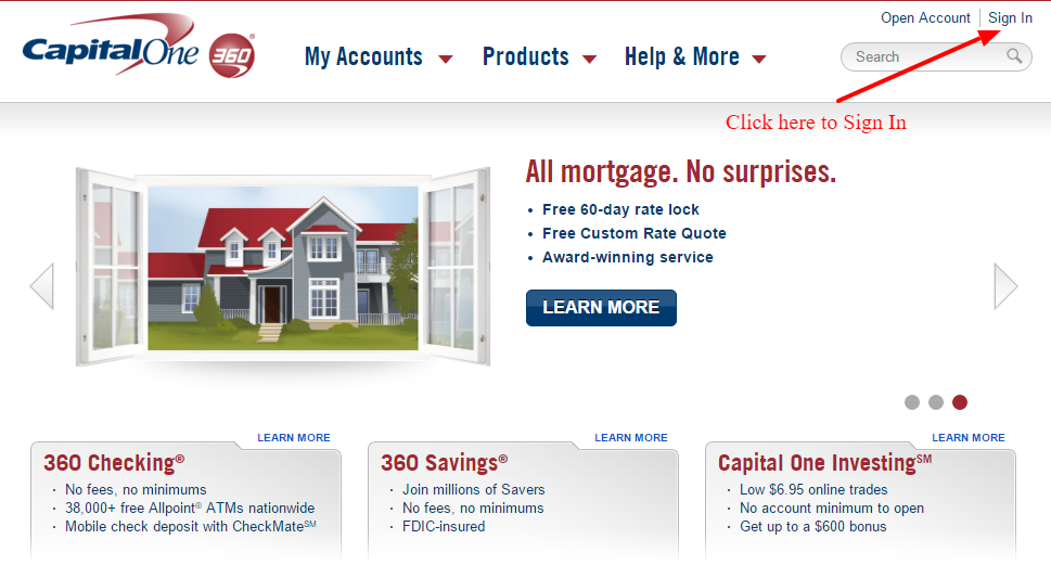 Capital One 360 Online Login