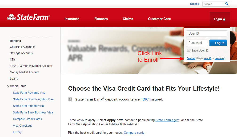Statefarm credit card