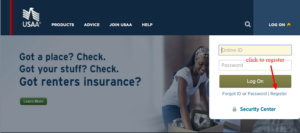 USAA Registration