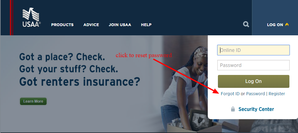 USAA-password-reset