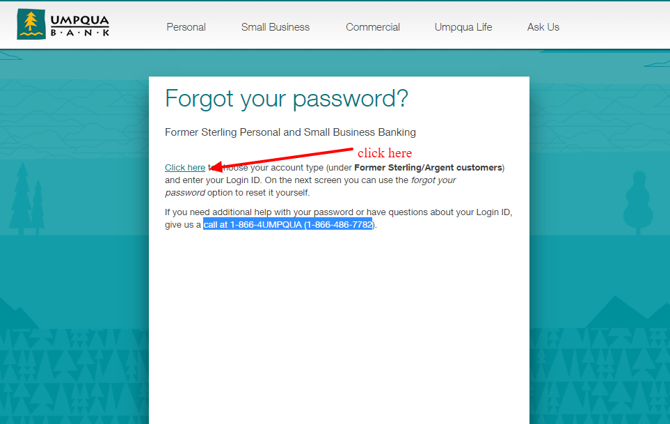 Umpqua Bank Forgot Password