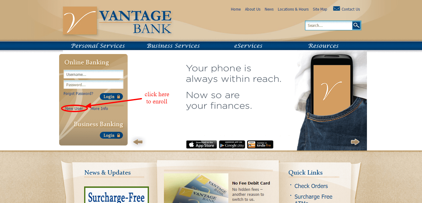 Vantage Bank of Alabama Enroll Online
