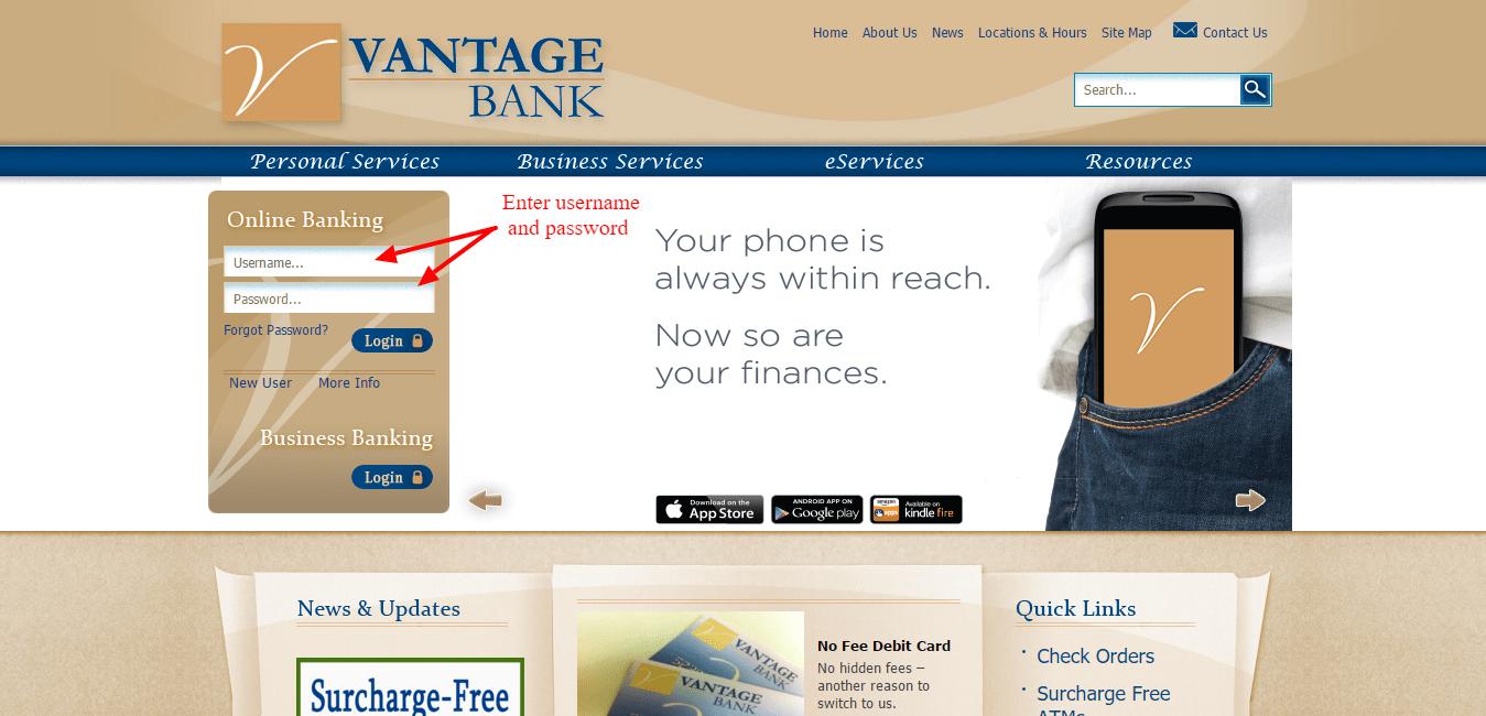Vantage Bank of Alabama Online Banking Login