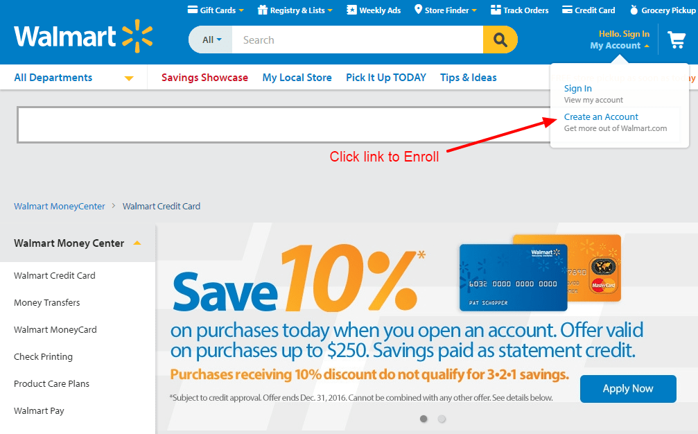 Walmart enroll