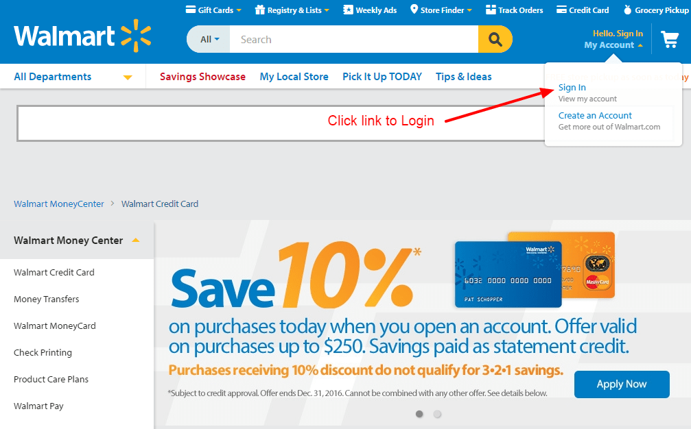 Walmart Credit Card Online Login - 🌎 CC Bank