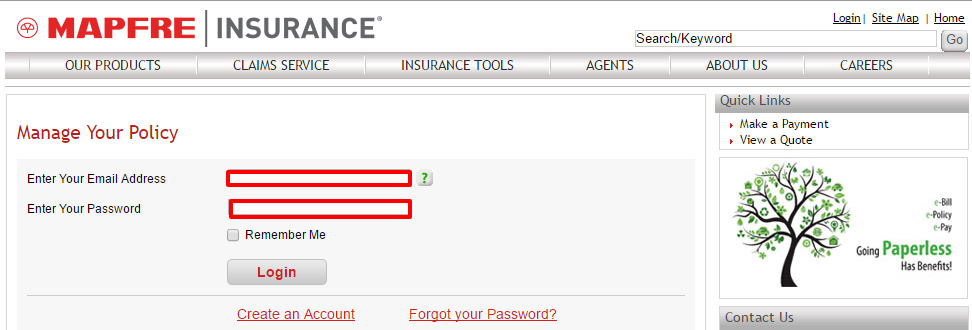 Your MAPFRE Account