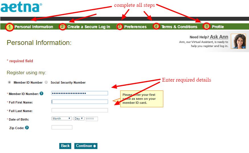aetna member registration online