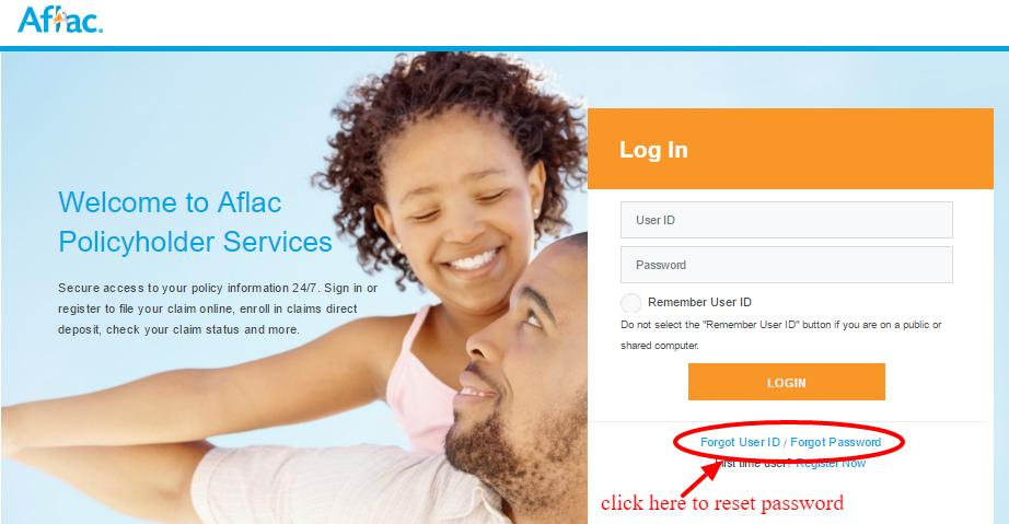aflac password reset