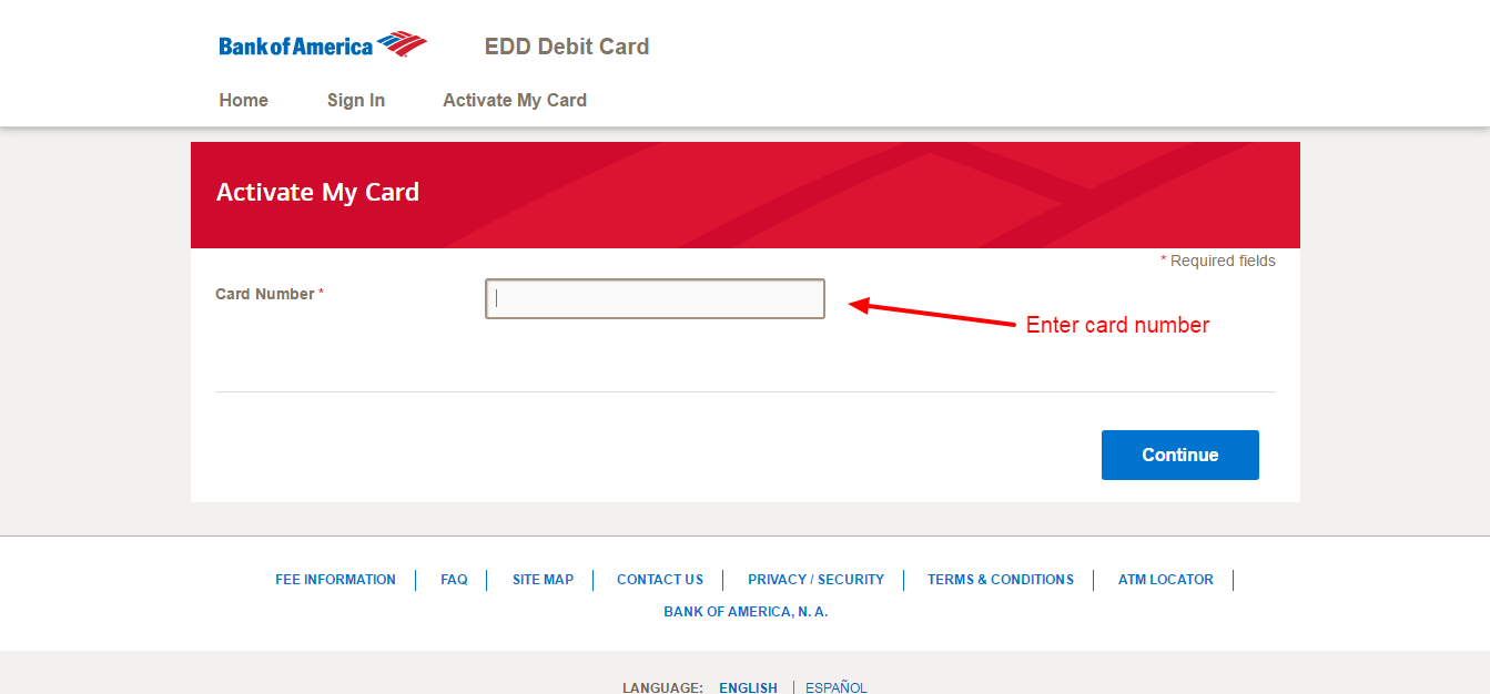 bank of america card activation toll free number