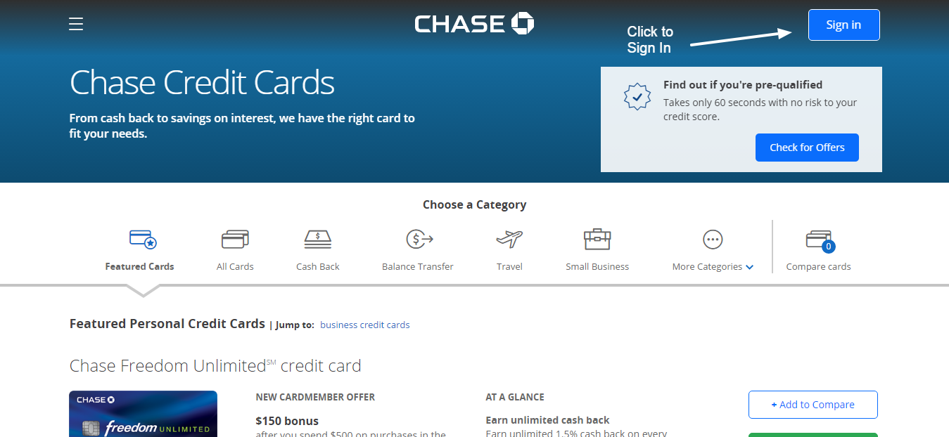 chase online banking account access
