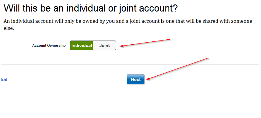 choose between joint and individual
