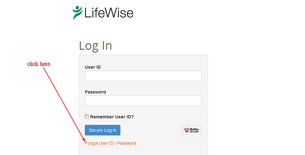 click here to change password
