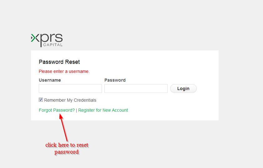 click here to reset password