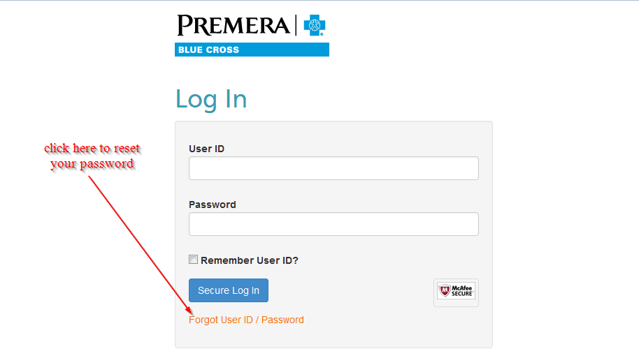 click here to reset your password