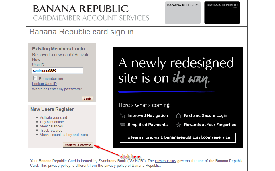 Also Known as: BR, GE Money Bank, Banana Republic Credit Card, Banana Republic Charge Card, stilyaga.tk Banana Republic Store Card was added to the directory by a user on February 11, doxo is a secure, all-in-one bill pay service enabling payments to thousands of billers. doxo is not an affiliate of Banana Republic Store Card.