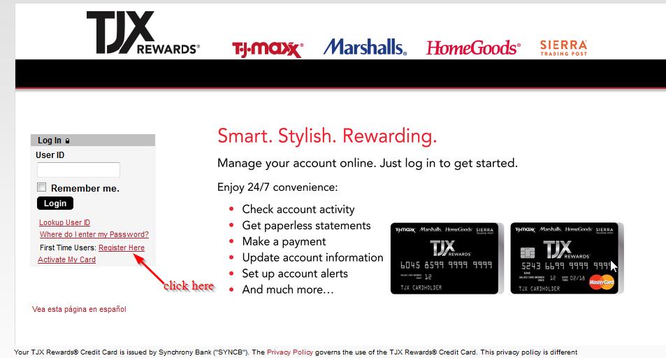 Tj carte de crédit volée Maxx