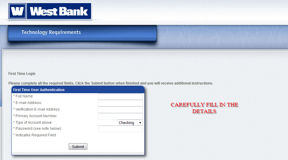 West Bank Online Banking Login