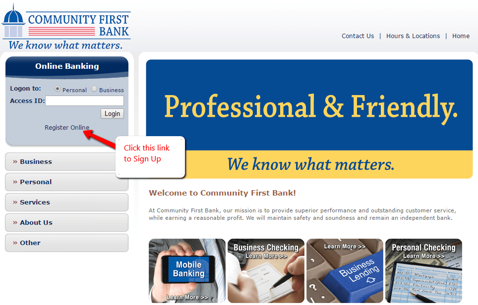 Community First Bank South Carolina Online Banking Login