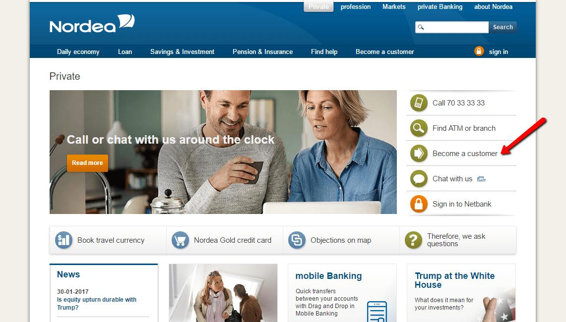 Nordea Bank Danmark Online Banking Login - CC Bank
