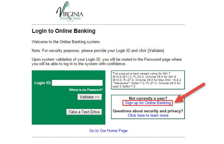 enroll-virginia-trust-bank-online