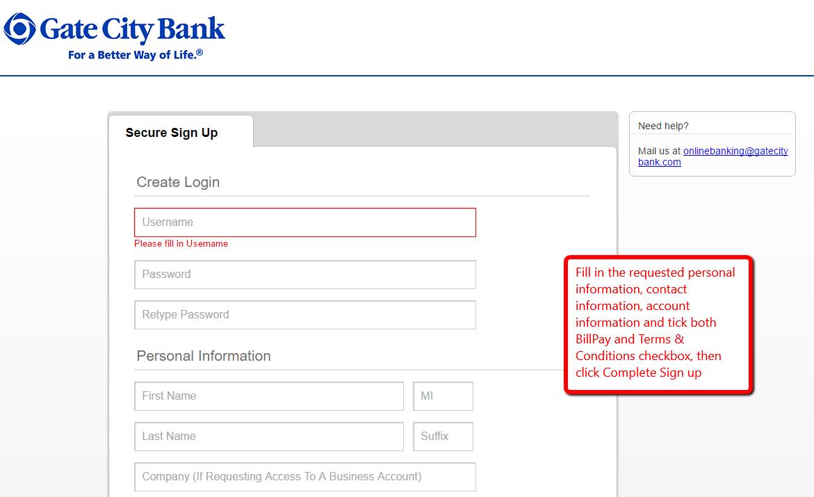 Gate City Bank Online Banking Login